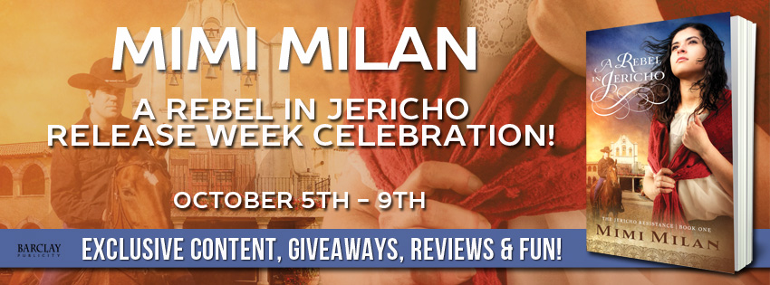 Release Week: A REBEL IN JERICHO by Mimi Milan